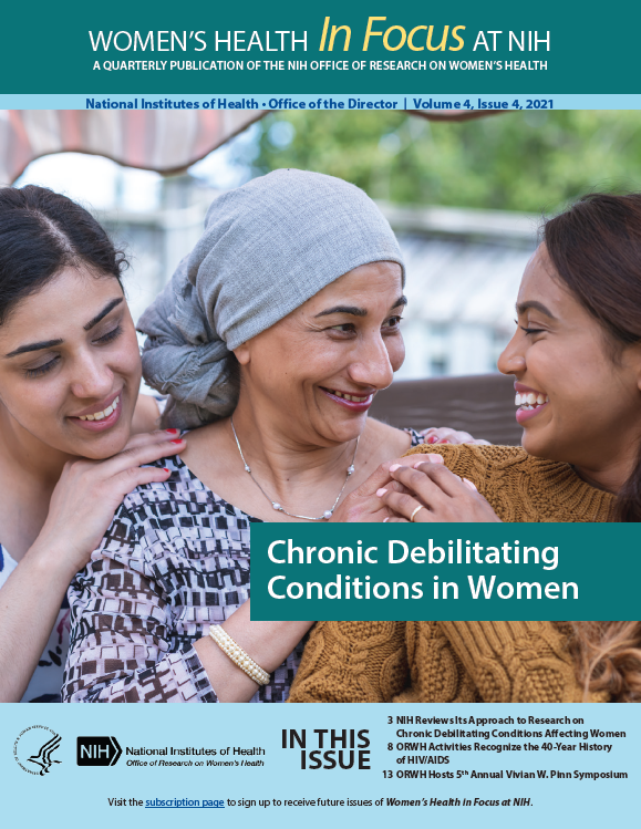 Cover of Volume 4, Issue 4, of Women's Health in Focus at NIH Quarterly Publication.