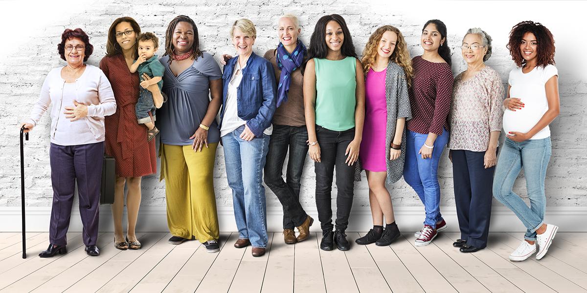 Group of women posing.