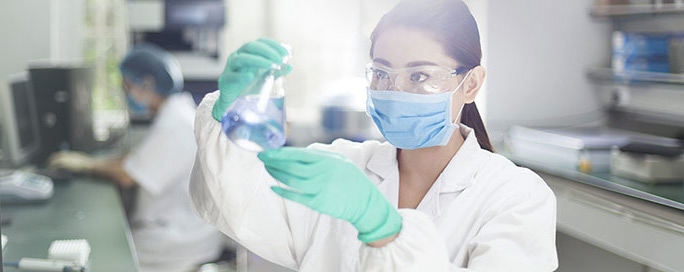 Female researcher in a lab