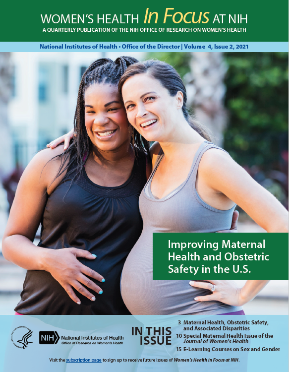 Cover of Volume 4, Issue 2, of Women's Health in Focus at NIH Quarterly Publication.