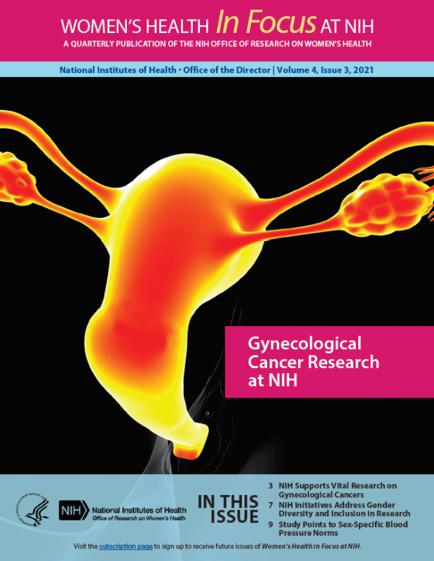 Cover of Volume 4, Issue 3, of Women's Health in Focus at NIH Quarterly Publication.