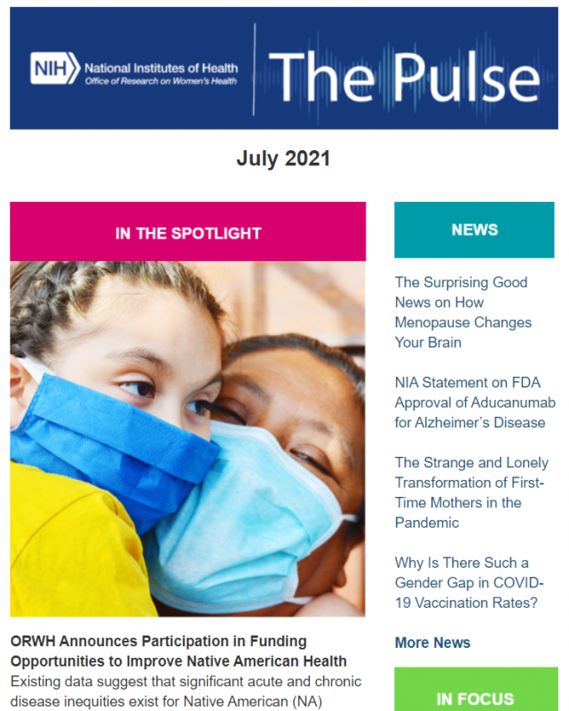July 2021 cover image of The Pulse.