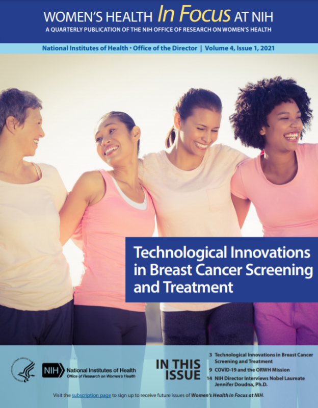 Cover of Volume 4, Issue 1, of Women's Health in Focus at NIH Quarterly Publication.