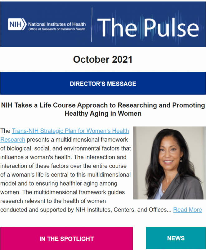 October 2021 cover image of The Pulse.