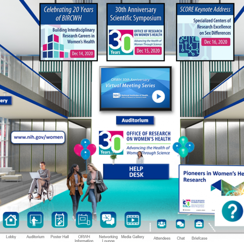 A virtual environment housing ORWH's 30th anniversary events.